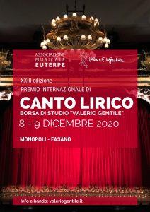 """PREMIO INTERNAZIONALE DI CANTO LIRICO """"VALERIO GENTILE"""" XXIII edizione"""